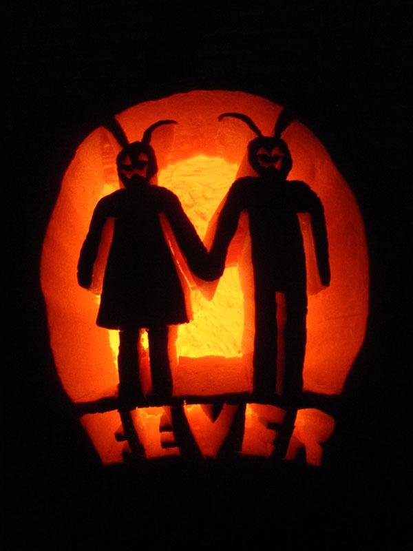 Hoppy halloween pumpkin pattern rabbit fever movie